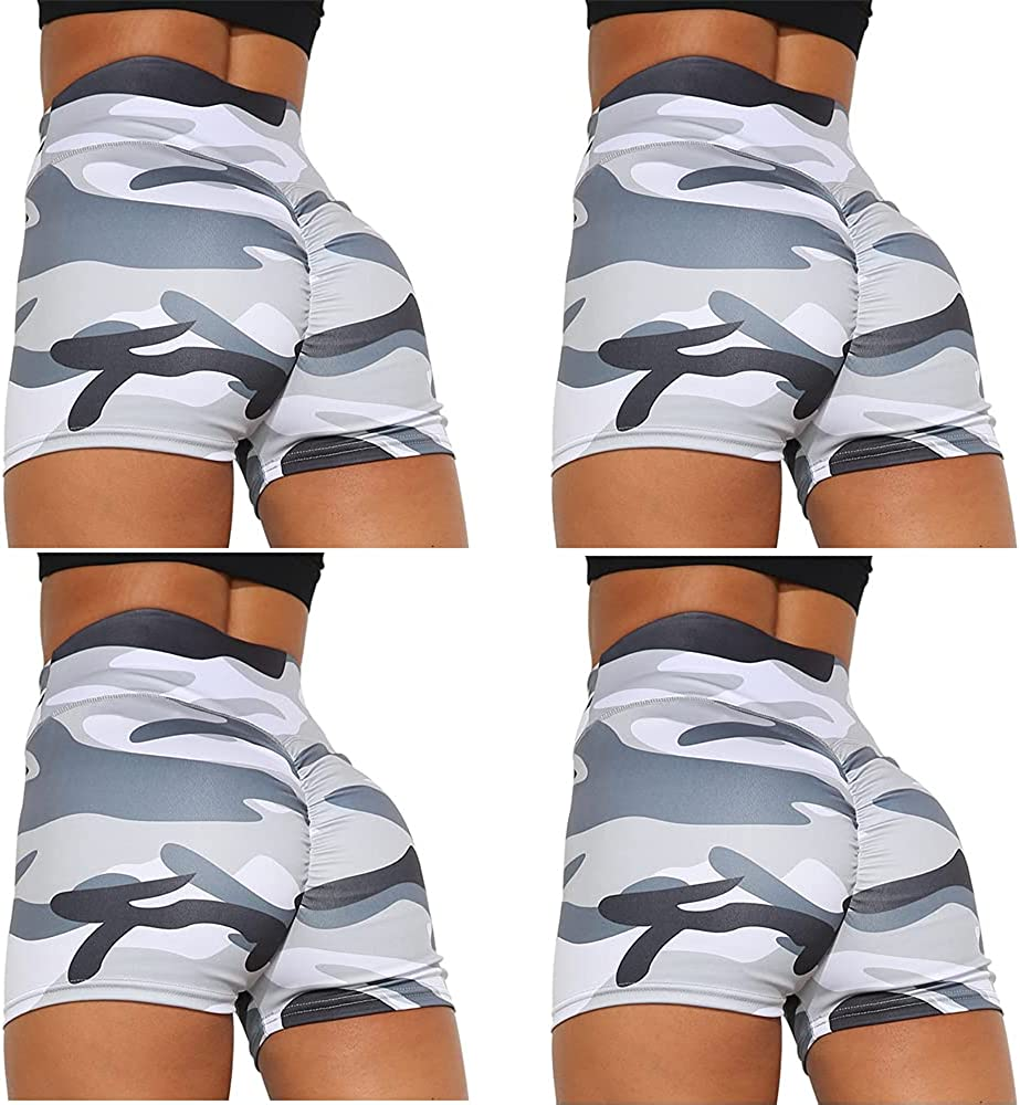 Womens Camo Prints Pattern Elastic Waisted Activewear High All items in the Excellence store Worko
