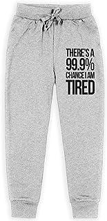 Yuanmeiju There is 99.9% Chance I Am Tried Boys Pantalones Deportivos,Pantalones Deportivos for Teens Boys Girls