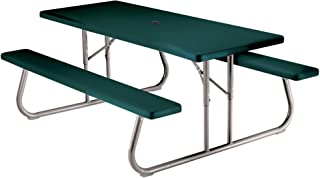 Lifetime 22123 Folding Picnic Table, 6 Feet, Hunter Green
