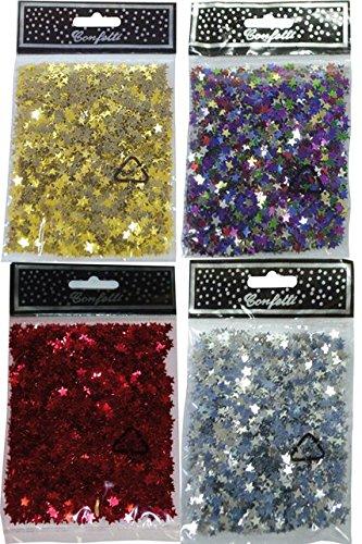 LIANYUNGANG HENGTIAN INTERNATIONAL Confettis étoiles métal Or 30 grs