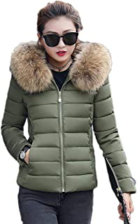 Gijoki Women Fashion Hooded Long Sleeve Winter Warm Outwear Coat Down
