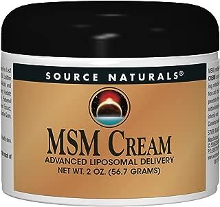 Source Naturals MSM (Methylsulfonylmethane) Cream Advanced Liposomal Delivery - 2 oz