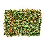 Haie de buis artificiel (feuilles et fleurs) - Décoration pour la maison, le jardin, le balcon, la terrasse - Intérieur ou extérieur - 63x 44cm 1PC Style_A
