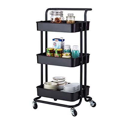 Tenozek 3-Tier Home Kitchen Storage Utility car...
