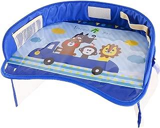 LH Car Kids Stroller Holder Portable Table Food Desk Waterproof Seat Tray Storage Kids Toy Table,C