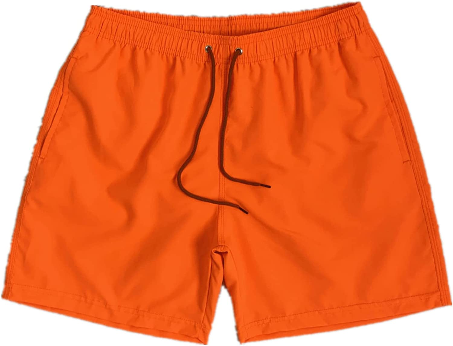 Men's Solid Color Elastic Waist Shorts Loose Casual Simple Fitness Running
