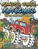 Libro Colorear Coches: Libro de colorear XXL de vehículos, coches, camión, motocross, tractores, moto, coche de carreras y monster truck para niños de ... Libro para colorear antiestres Infantil