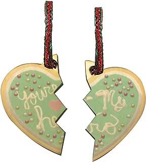 Hat Shark You're My Hero Sprinkle Cookie Movie Video Game Parody Split in Two Laser Engraved Printed Wooden Christmas Ornament Gift Seasonal Decoration