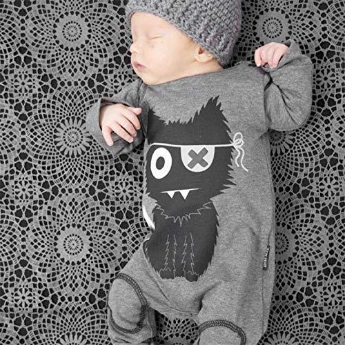 N-B Pijamas de Manga Larga para bebé niña, Mamelucos para bebé, Mamelucos de algodón, Monos de Hombre, Ropa de Dibujos Animados
