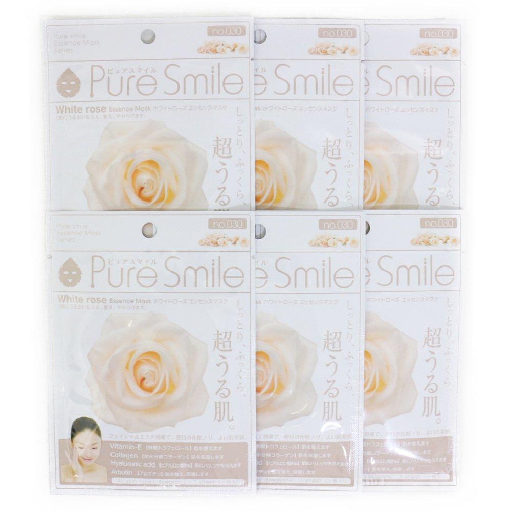 交通渋滞交通渋滞利益Pure Smile ピュアスマイル エッセンスマスク ホワイトローズ 6枚セット