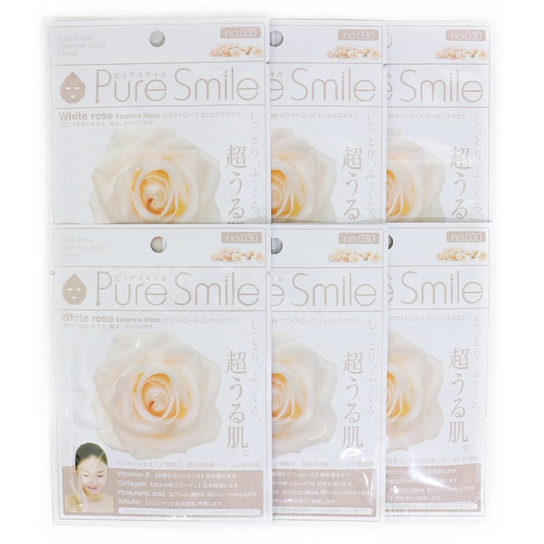 救援与えるシーケンスPure Smile ピュアスマイル エッセンスマスク ホワイトローズ 6枚セット