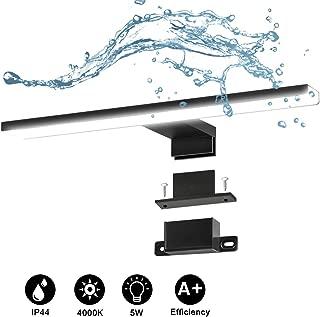 Lámpara de Espejo, DA HENG IP44 Luz de baño impermeable para iluminación de paredes y baño I Luz de maquillaje I Luz de sujeción I Luz del gabinete I Blanco neutro 200V-240V