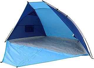 Timber Ridge 海滩帐篷太阳收容室轻松安装户外快速洗发袋,2-3 人,蓝色