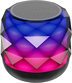 $117 » ZXQZ Speakers Wireless Bluetooth Speaker with LED Night Light Changing, Portable Speaker 6 Color LED Themes, Support Hands...