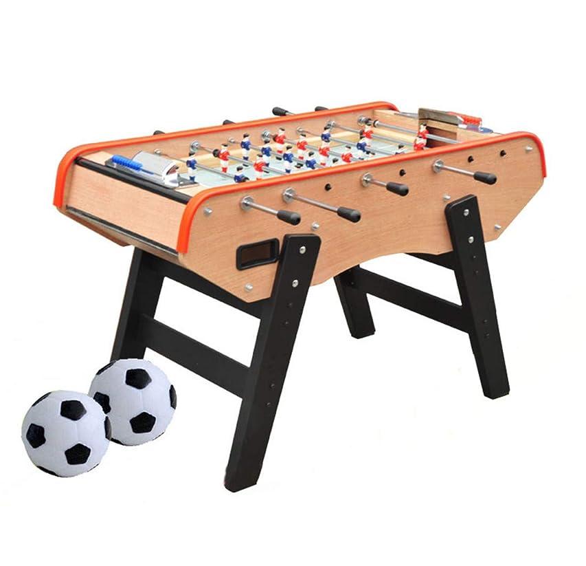 地球実験アルカイックテーブルの上のサッカーのテーブルは2つの得点単位があります2球は成人と子供のテーブルのサッカーの試合です