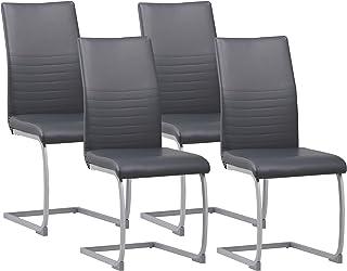 Albatros chaise cantilever MURANO Lot de 4 chaises, gris, testé par SGS