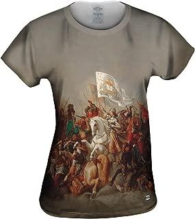 Yizzam- Stilke Hermann Anton - Joan of Arc in Ba.-Tshirt- Womens Shirt 2353