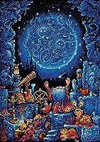 大人の子供のジグソーパズル-風景1000ピースパズル-クラシックジグソー-3D-ブレインチャレンジ-魔術師ジグソーパズル