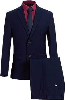 Business Suits for Mens 2 Piece Classic 2 Button Slim Blazer & Pants Set