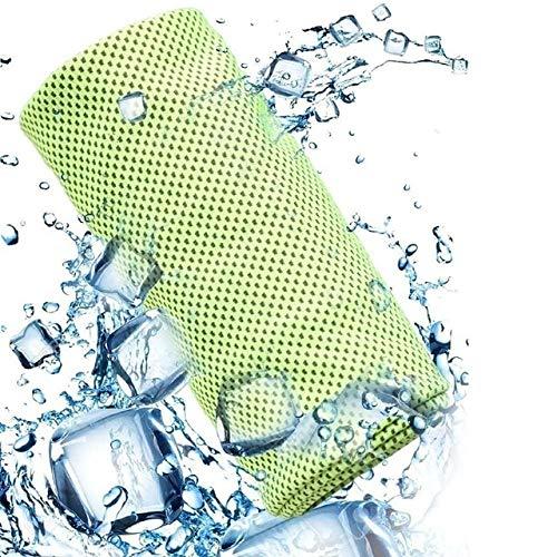 Toalla Ultraligera de Microfibra para Gimnasio y Yoga de Secado rápido para la Playa, natación, Correr, Trotar, sensación de frío, Sudor, refrigeración, Viajes en Hielo - Verde