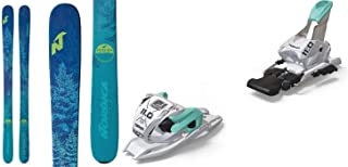 Nordica Santa Ana 93 169cm Skis 2019 & Marker 11.0 TP White Mint 110mm Brake Ski Bindings