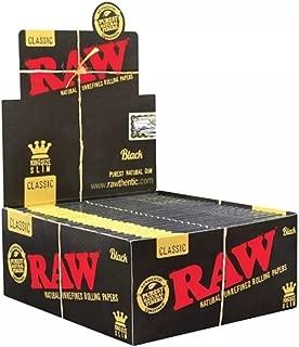 Raw classic black king size slim full box 50 packs
