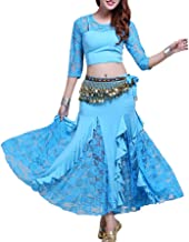 WILLLIN Belly Dance Costumes Belly Dancing Skirt Bollywood Practice Permance Stage Wear