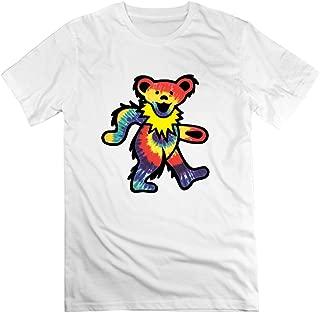 Rock Grateful Dead Dancing Bear T-Shirt for Mens White M