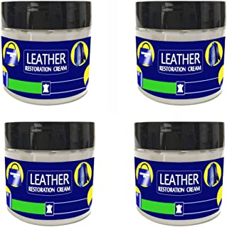 Retrofish Set of 4, Leather Vinyl Repair Refinish and Restorer Cream Kit - Reconditioning Filler for Car Seats, Sofas, Shoes, Jackets, Boat Seats and Couches Leather Restoration Cracks Burns Holes