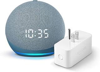 Echo Dot (4th gen.) with Clock, Twilight Blue and Amazon Smart Plug