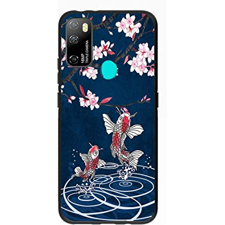 Entaifeng for Ulefone Note 9P Case,Scratch Resistant Grippy Soft TPU Rubber Full Body Protective Phone Cover for Note 9P (Falling Sakula)