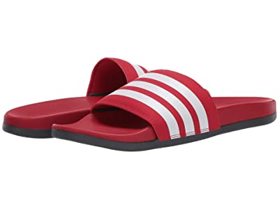 adidas Adilette Comfort (Scarlet/Footwear White/Grey Six) Men