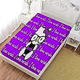 Aatensou Patrón Hellokitty para sábanas, impresión 3D, adorna el dormitorio con estilo dulce (A2, 120 x 200 cm)