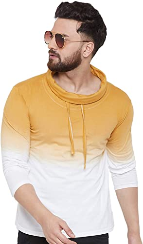 Turtle Neck Shaded T Shirt for Men GSFSOMB60210 P