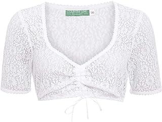 Country-Line Damen Trachten-Mode Dirndlbluse Bianca in Weiß traditionell