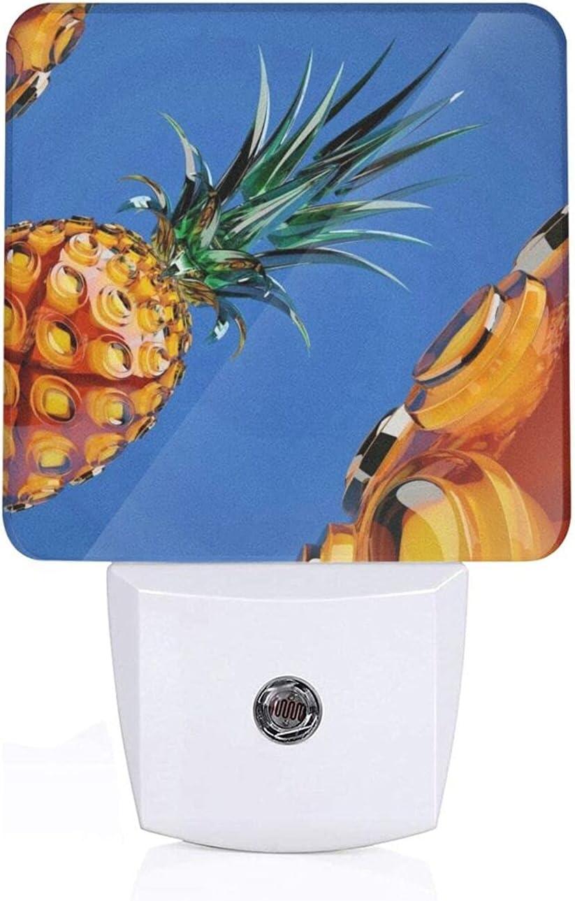 Exquisite 1 year warranty Pineapple Art Night Light with to Senso Dusk Auto Philadelphia Mall Dawn