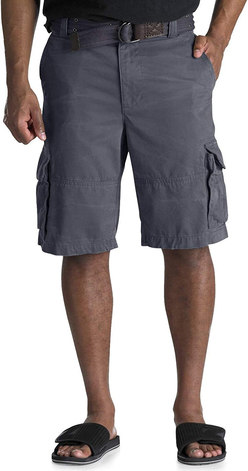 Society of One by DXL Big and Tall Distressed Cargo Shorts