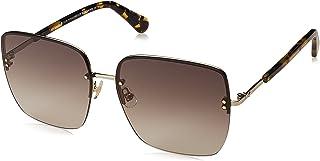 Kate Spade Women's Janay/s Rimless Sunglasses, Dark Havana, 61 mm