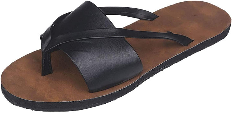 Summer Beach Flip Flops Sandals Women's Slippers Female Flat Sandals Flip Flops,Black,37