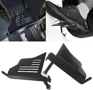 Allinoneparts JK JKU JL Foot Pegs Flag Style for 2007-2019 Jeep Wrangler JK JKU JL Accessories, Black - Pair