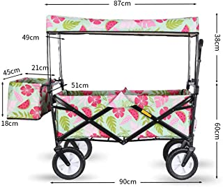 Beach Carts with Big Wheels for Sand, Folding Shopping Cart, Suit for Shopping And Park Picnic, Wagon Collapsible,For Beac...