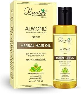 Luster Almond (Neem) Herbal Hair Oil | Softens Hair Texture & Nourishes Scalp | Hair oil For Hair Growth | For Women & Men...