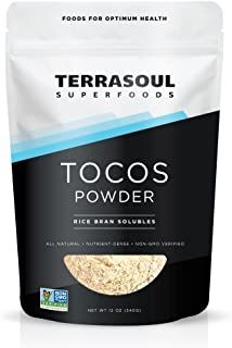 Terrasoul Superfoods Tocotrienols (Rice Bran Solubles - 12 ounces, 340 g) - Organically Grown