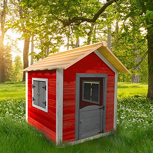 Home Deluxe - Spielhaus aus Holz für Kinder - umweltfreundliches Kinderspielhaus - Das kleine Schloss - 101 x 106 x 128 cm - Inkl. komplettem Montagematerial