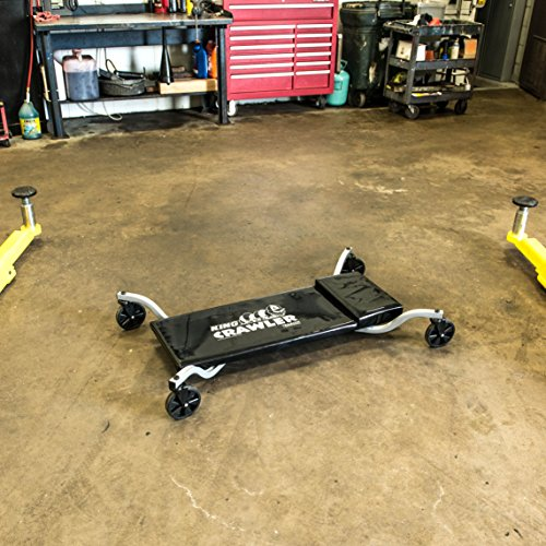Traxion 1-200 King Crawler Rolling Automotive Mechanic Creeper W/All-Terrain 5' Casters
