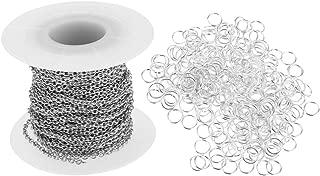 Baoblaze 300Pcs 4mm Split Rings Silver Key Rings Jump Jewelry Findings With Chain