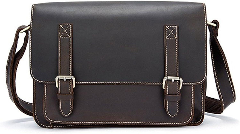 Sucastle Sucastle Sucastle Herren Leder Umhängetasche Schultertasche Kuriertasche Messenger Bag Große Kapazität Vintage Design, 2 B07DPQDJDD 16e3b5