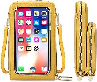 Borsa per cellulare con Schermo tattile, portafogli a tracolla per cellulare Portafoglio con blocco RFID Portafoglio picco...