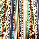 Stoff Baumwollstoff Meterware grau orange bunt Streifen