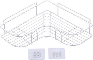 Homyl コーナーシャワーキャディー鉄バスルームオーガナイザー棚収納オーガナイザー浴室、トイレ